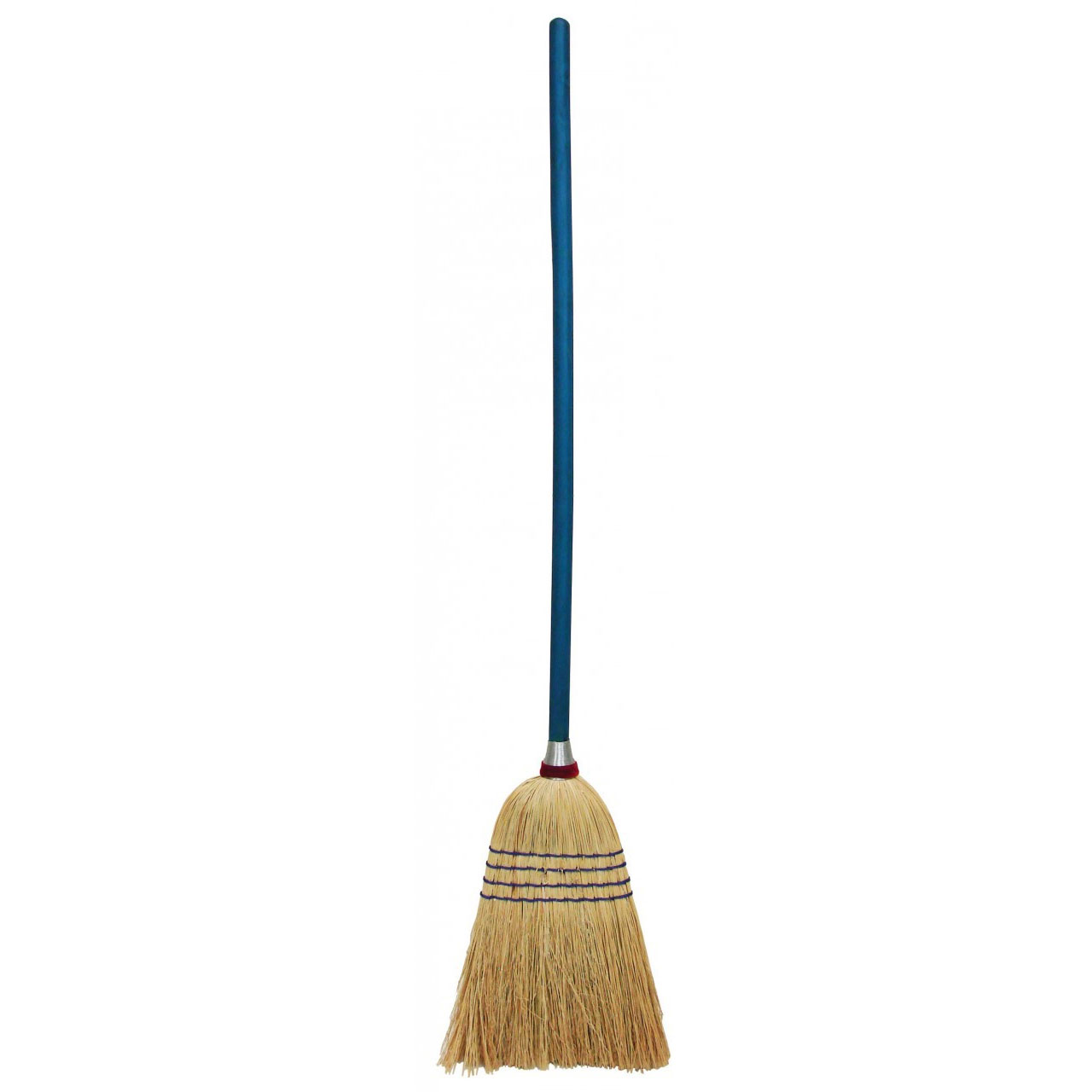 11 Quot Maid Broom W 33 Quot Wooden Handle Blue Unoclean