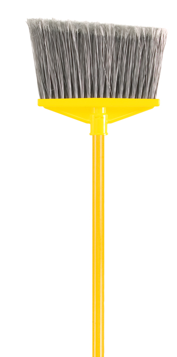 Rubbermaid Vinyl-Coated Metal Handle Angled Upright Broom
