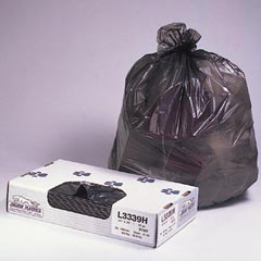 Jaguar Plastics Linear Low-Density Commercial Can Liners - Bulk Pack - 40 x 46 - Heavy Grade - Black JAGL4046H