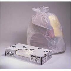 Jaguar Plastics Value White Commercial Can Liners - 24 x 32 - Extra-Heavy Grade - White JAGW2432X