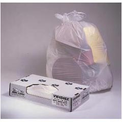 Jaguar Plastics Value White Commercial Can Liners - 38 x 58 - Extra-Heavy Grade - White JAGW3858X