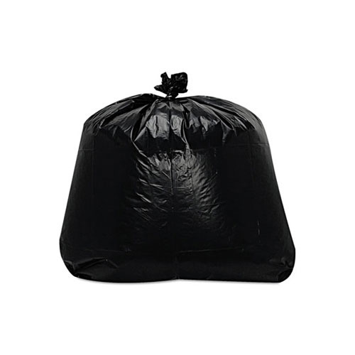 Low-Density Can Liners, 1.6mil, 56 gallon - Trinity Packaging Corporation - Black Garbage/Trash Bags