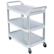 2-Shelf Xtra Utility Cart - 300 lbs Capacity RCP4091GRA