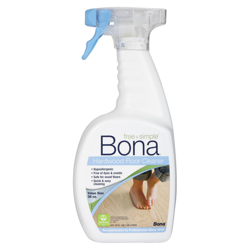 Bona free simple wood floor cleaner unoclean for Wood floor cleaner bona