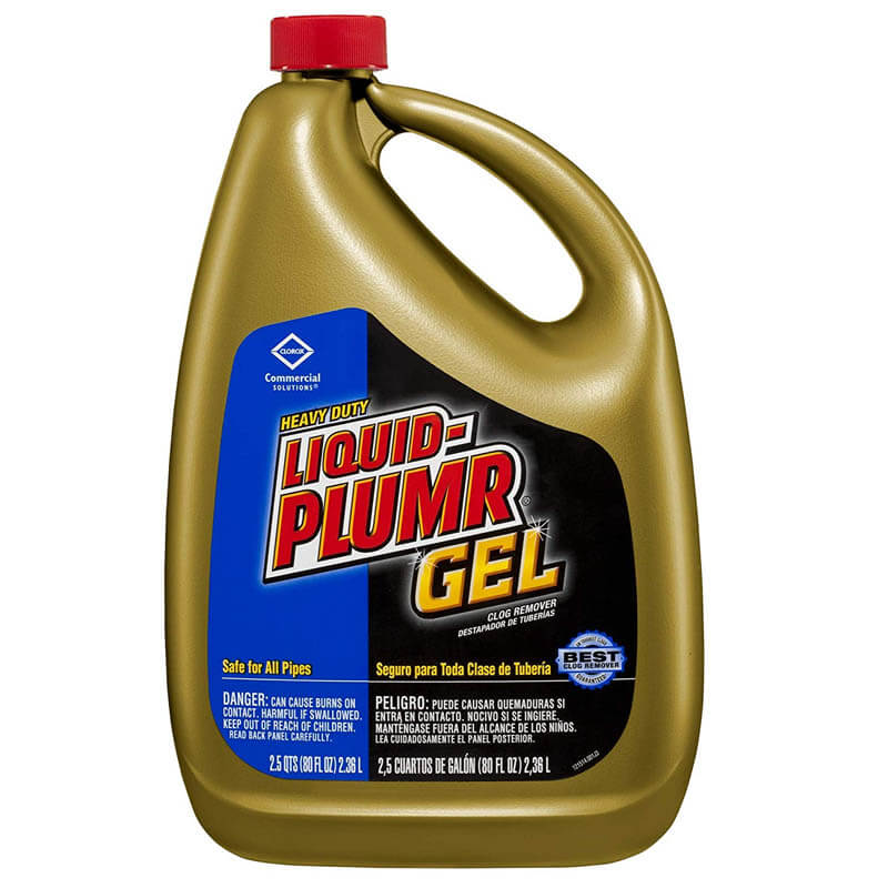 Liquid-Plumr Heavy-Duty Clog Remover - 80 oz. Bottles