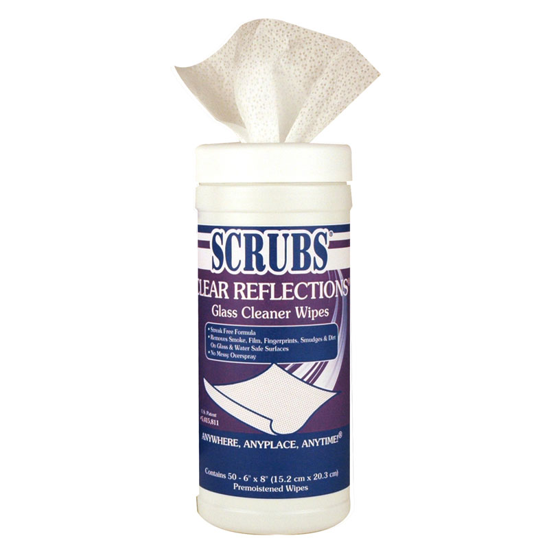Scrubs Clear Reflections Glass Surface Wipes