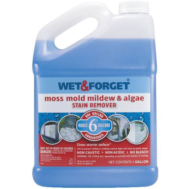Wet & Forget Moss, Mold & Mildew Stain Remover - 1 Gallon Bottle