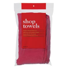 Red Professional Quality Shop Towels - 12 Pack