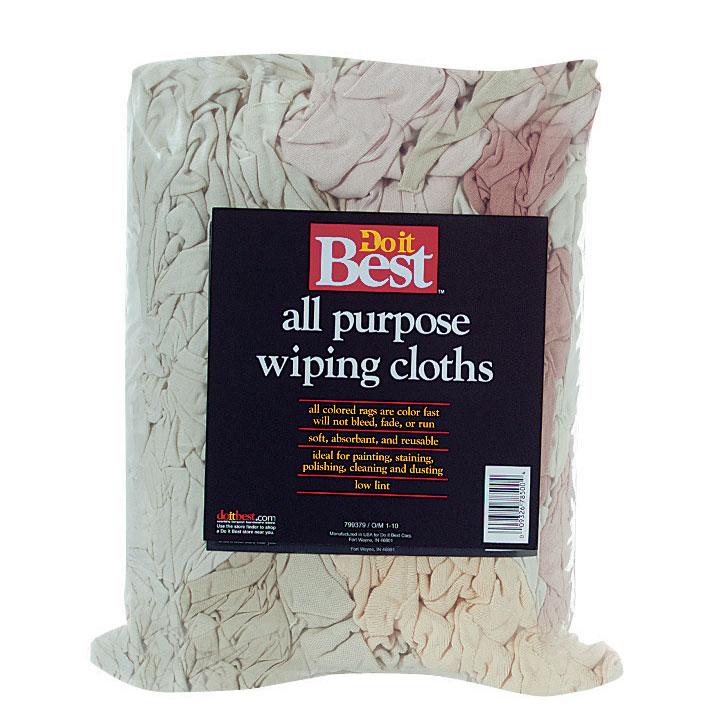 All-Purpose Reusable Wiping Cloths - Assorted Colors - 5 lb. Bag