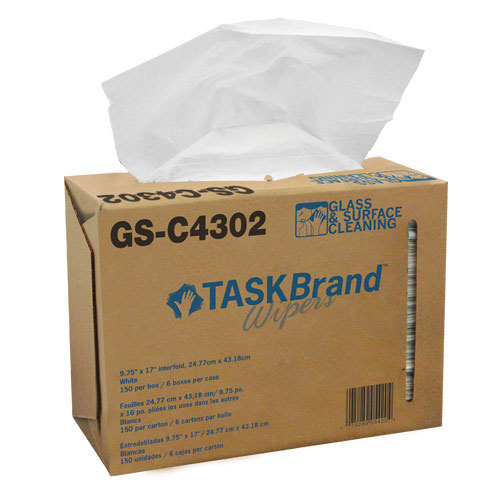 Task Brand Glass & Surface Wipes