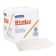 Kimberly Clark WypAll® L40 Quarterfold Wipers, White KCC05701