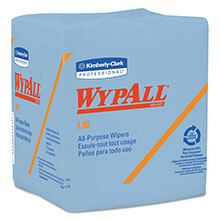 Kimberly Clark WypAll® L40 Quarterfold Wipers, Blue KCC05776