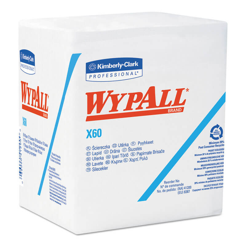 Kimberly Clark WypAll® X60 Reinforced Quarterfold Wipers KCC34865