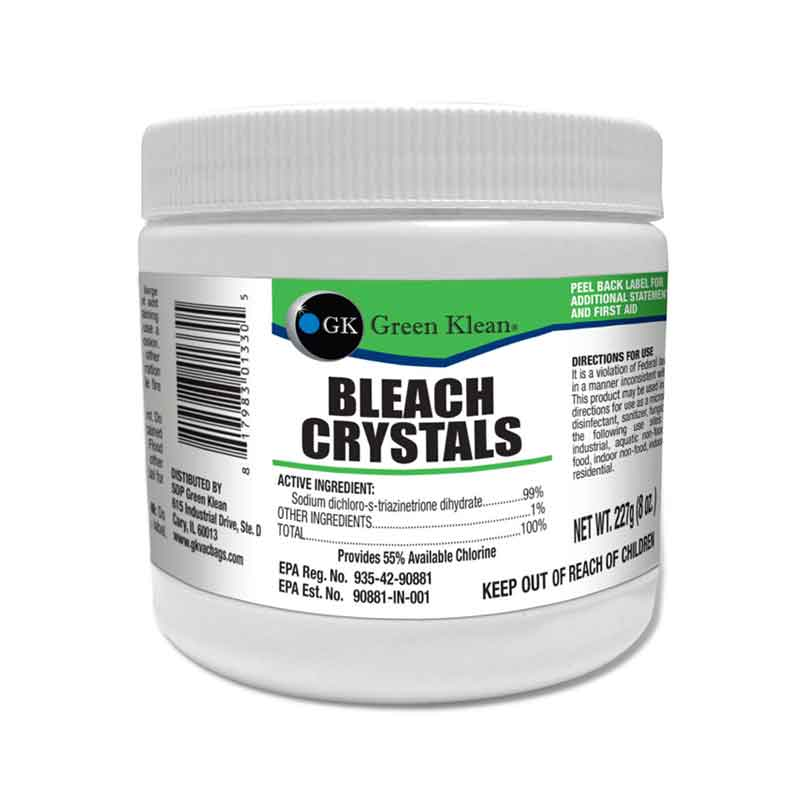 Green Klean Ultra Concentrated Bleach Crystals - 8 oz. Jar