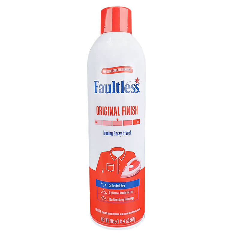 Faultless® Professional Formula Regular Starch - Crisp Finish - Original Fresh Scent - (12) 20 oz. Aerosol Cans
