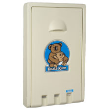 Standard Recessed Vertical Baby Changing Station, Cream KKPKB101-00