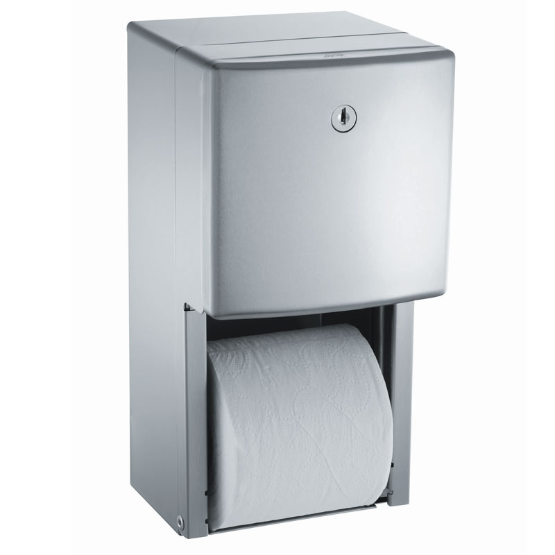 American Specialties [20030] Surface Mounted Twin Hide-A-Roll Toilet Tissue Dispenser