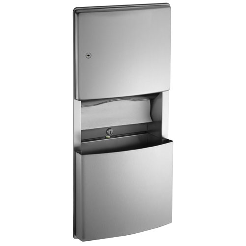 ASI Roval Recessed Paper Towel Dispenser and Waste Receptacle