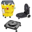 Waste Receptacle Dollies & Caddies - Garbage Can Dollie Wheels
