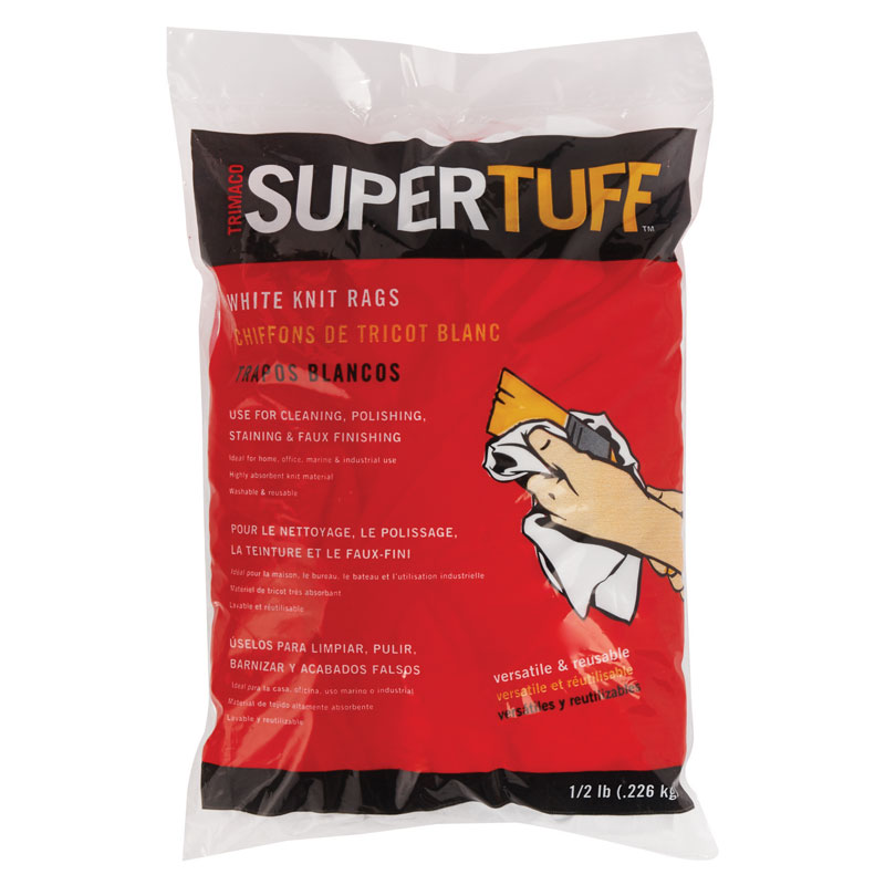 8 oz. SuperTuff White Staining Rags