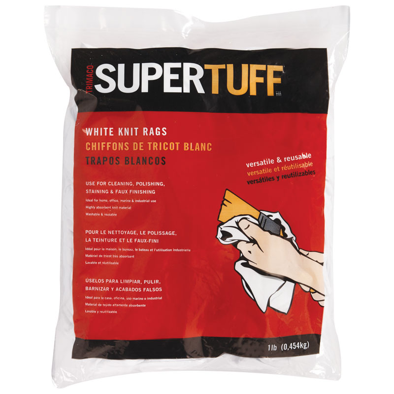SuperTuff 1 lb. White Knit Staining Rags