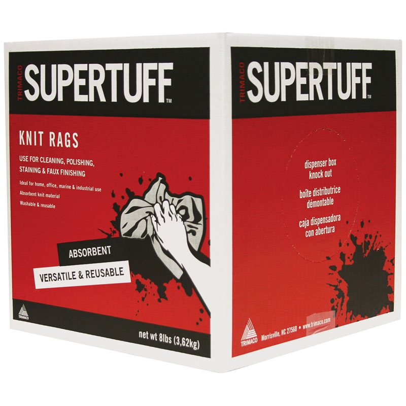 SuperTuff 8 lbs. White Knit Staining Rags