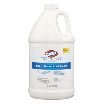 Hospital Cleaner Disinfectant w/Bleach - (6) 2 qt. Refill Bottles CLO68973