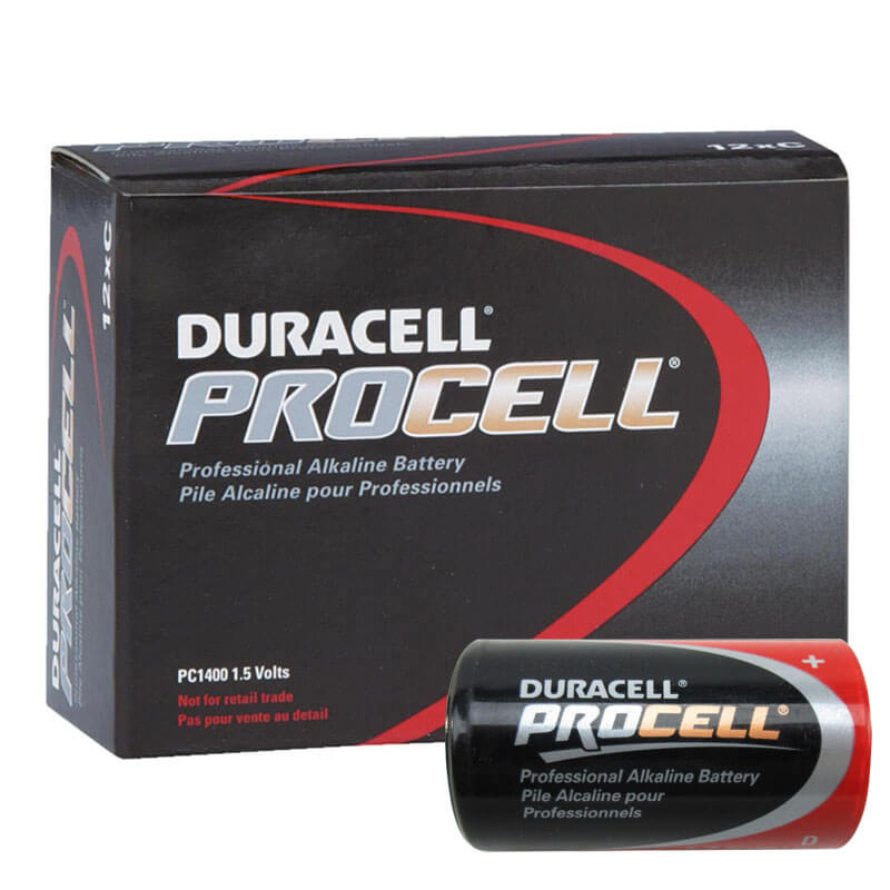 Duracell PROCELL [PC1400] Alkaline Batteries - 12 Pack - Size