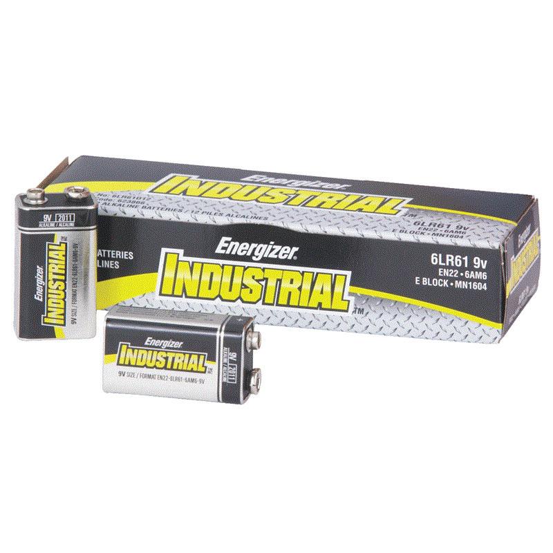 energizer en22 industrial alkaline batteries 9 volt 12 pack unoclean. Black Bedroom Furniture Sets. Home Design Ideas