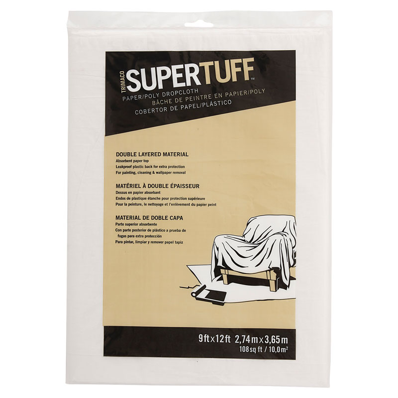 SuperTuff Plastic & Paper Combination Drop Cloth