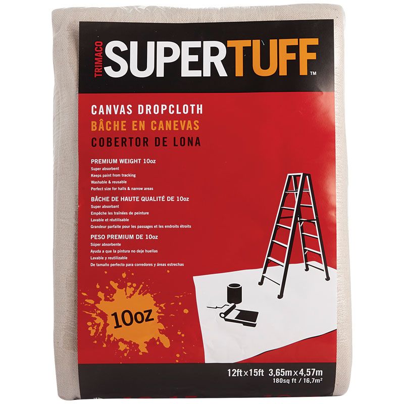 12' x 15' SuperTuff Premium Canvas Drop Cloth