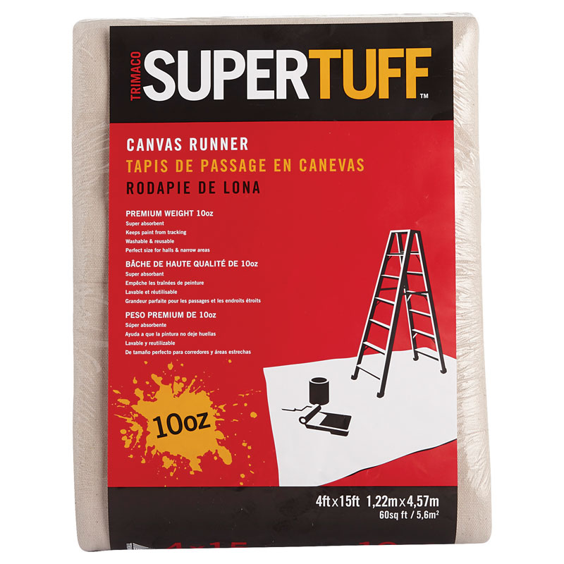 4' x 15' SuperTuff Premium Canvas Drop Cloth