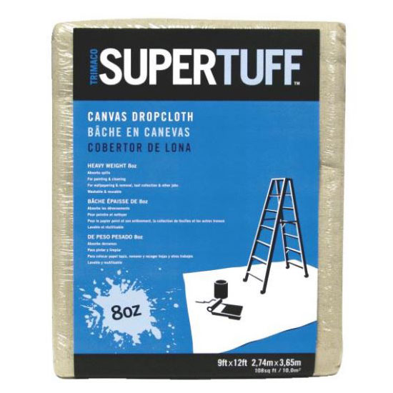 9' x 12' SuperTuff Heavyweight Canvas Drop Cloth - Tan