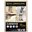 12' x 15' Eliminator Butyl-Back Canvas Drop Cloth