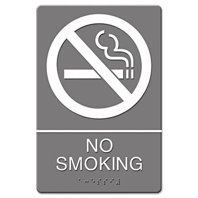 No Smoking ADA Wall Sign