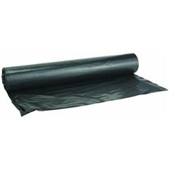 Black Polyethylene Plastic Sheeting Tarp - 8' x 100' - 4 Mil. - Black