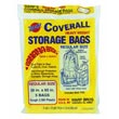 "Warp Bros. [CB36] Original Banana Bags® Coverall Heavyweight Plastic Storage Bag - Transparent - 2 mil. - (5) 36"" x 60"" Bags 618195"