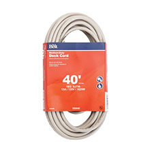 Medium-Duty Extension Power Cord - 16/3 - Beige - 40' Long
