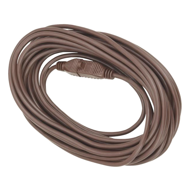 Medium-Duty Extension Power Cord - 16/3 - Brown - 40' Long