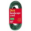 Medium-Duty Landscape Extension Power Cord - 16/3 - Green - 40' Long