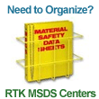 Right To Know (RTK) MSDS Binders, Centers & Storage Racks