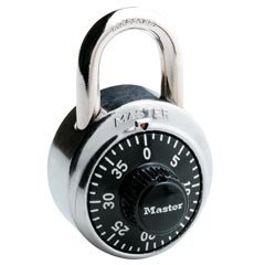 Master Lock [1500D] Stainless Steel Combination Padlock - 3 Digit Dialing - 1 7/8
