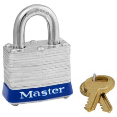 Master Lock [3D] Four-Pin Hardened Steel Tumbler Lock - 2 Keys - 1 9/16