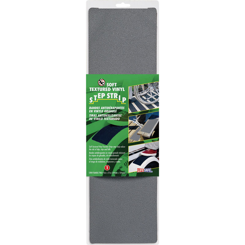 Life-Safe Anti-Slip Safety Grit Strip - Gray - 6