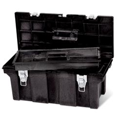 Rubbermaid [7802] Industrial Tool Storage Box - Black - 26