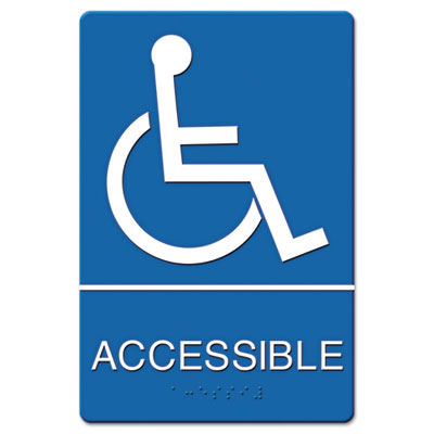 Wheelchair Accessible ADA Wall Sign