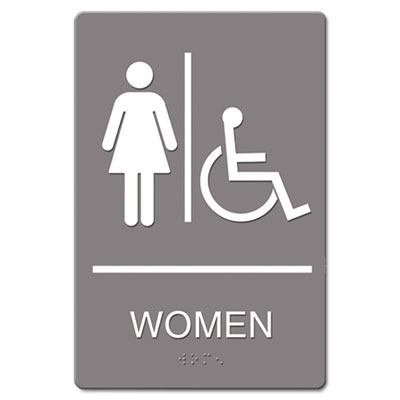 Women's Restroom ADA Wall Sign