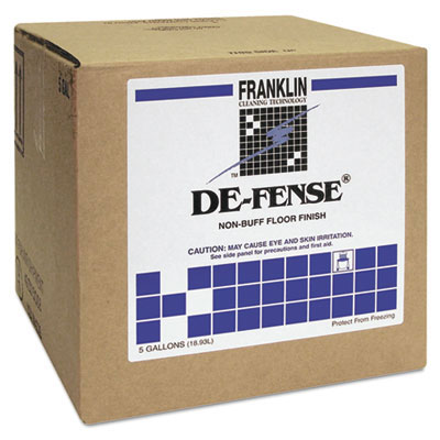 Franklin DE-Fense Low Maintenance Floor Finish - 5 Gallon Cube