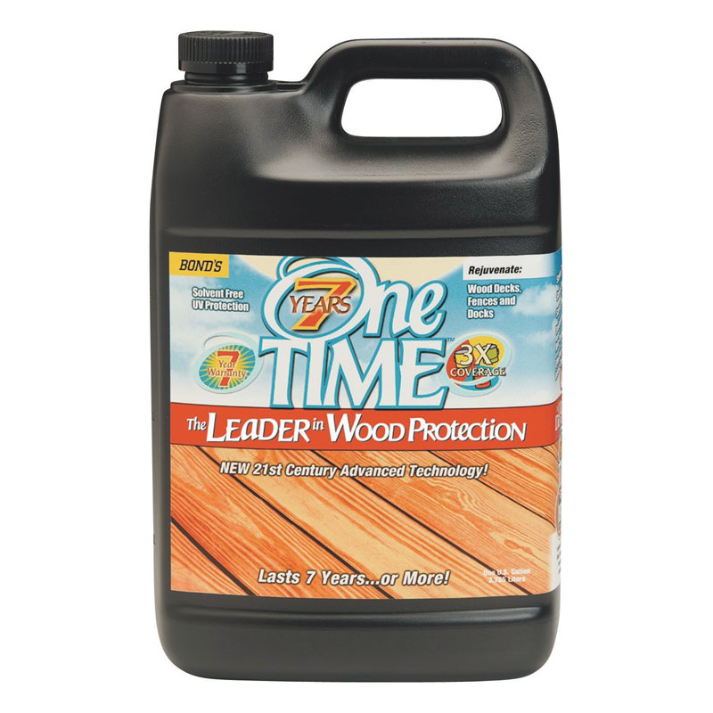 One TIME® [00400] Hard Wood Protector - Clove Brown - 1 Gallon Bottle