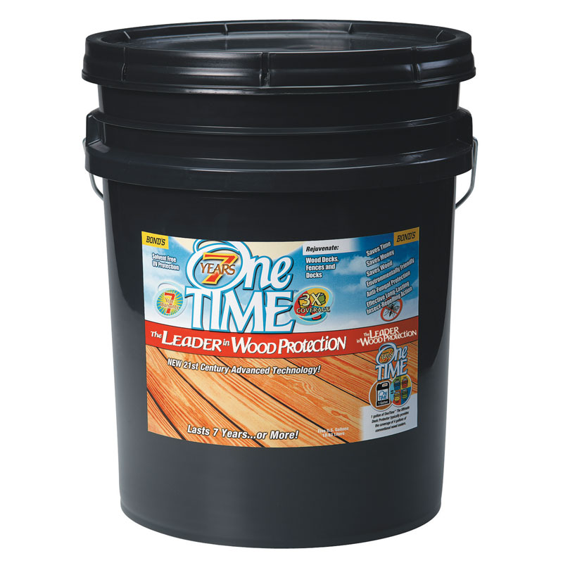 One TIME® [00600] Hard Wood Protector - Natural - 5 Gallon Pail